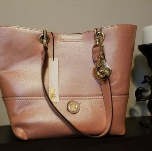 Pink Kate Landry bag with coin purse
